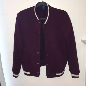 Forever 21 maroon varsity jacket